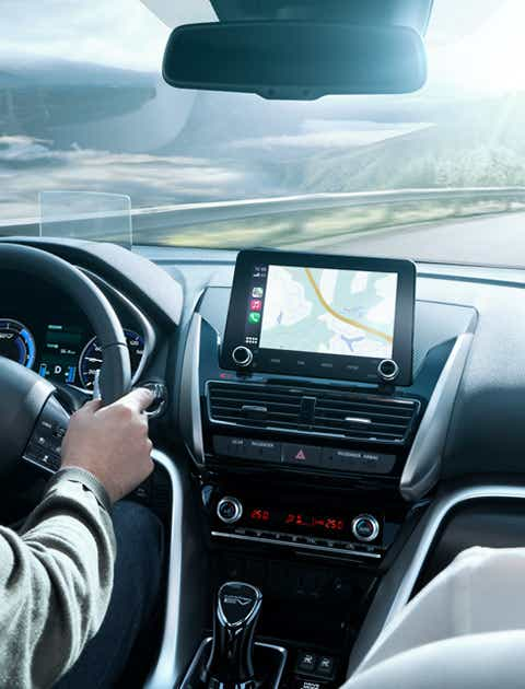 Multifunktions display i Eclipse Cross PHEV